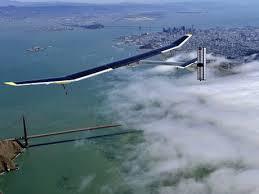 Solar Impulse above Golden Gate Bridge